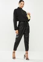 Missguided - Coord zip sweatshirt kangaroo pocket - black