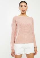 Missguided - Ophelita off shoulder jumper - pink