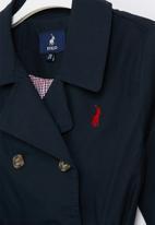 POLO - Girls tiffany double breasted coat - navy