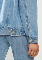 Missguided - Oversized denim jacket - blue
