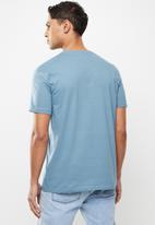 Quiksilver - Days gone bye mt0 short sleeve - blue