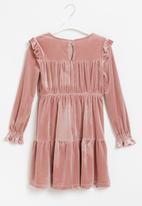 Superbalist Kids - Younger girls velour dress - pink