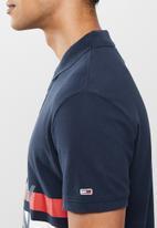 Tommy Hilfiger - Tjm block stripe polo - navy