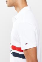Tommy Hilfiger - Tjm block stripe polo - white
