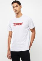 Tommy Hilfiger - Tjm gradient tommy tee - light grey
