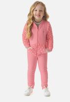 UP Baby - Girls polka dot sweat top & sweatpants set - pink