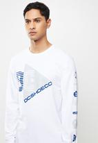 DC - Omnicutt long sleeve tee - white