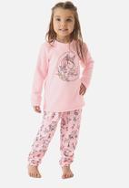 UP Baby - Girls unicorn pj set - light pink