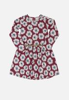 Bee Loop - Girls floral dress with belt - red