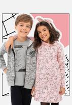 Bee Loop - Girls puppy print dress - pink