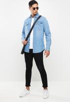 G-Star RAW - 3301 slim fit long sleeve shirt - blue