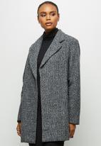 edit - A-line boucle coat - grey