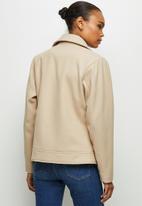 edit - Melton biker jacket - beige