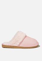 Cotton On - Cosy scuff slipper - blush