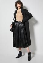 Superbalist - Pu pleated skirt - black