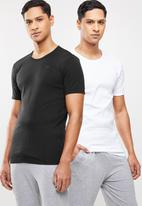G-Star RAW - Base short sleeve 2 pack tee - white & black