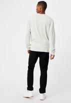 Cotton On - Lightweight crew knit - light grey marle