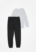 POP CANDY - Long sleeve tee & pants pj set - grey & black