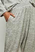 edit - Soft texture harem pants - oatmeal