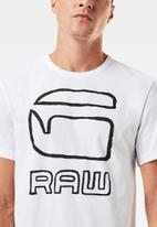 G-Star RAW - Graphic graw straight r t s\s - white