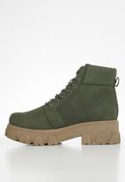 Seduction - Chunky combat boot - olive