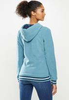 Aca Joe - Polar fleece zip through hoodie - blue