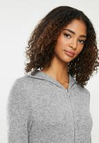 Blake - Premium soft touch hooded jumpsuit - grey