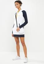 Aca Joe - Hoodie pocket dress - navy & white