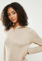 Blake - Premium soft touch hooded jumpsuit - beige