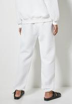 Superbalist - Quilted track pants - white