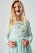 Cotton On - License ivy long sleeve dress - lcn dis/duck egg/jasmine