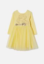 Cotton On - License ivy long sleeve dress - lcn dis/lemon/belle