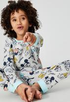 Cotton On - Oscar long sleeve pyjama set licensed - lcn dis disneyland mickey and friends/grey ma