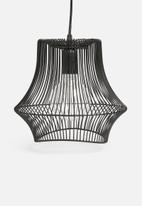 Sixth Floor - Terra wire pendant light - black