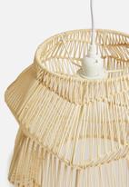 Sixth Floor - Bambou woven pendant light - natural