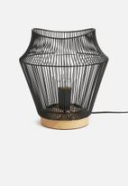 Sixth Floor - Terra wire table lamp - black