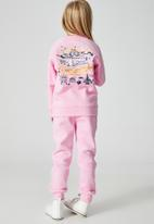 Cotton On - License marlo trackpant - lcn dis take me to disneyland/cali pink