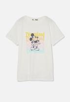 Cotton On - License short sleeve tee - lcn dis mickey rainbow logos/vanilla