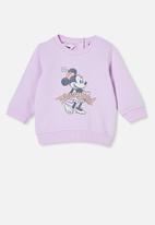 Cotton On - Bobbi sweater lcn - lcn dis pale violet/disneyland vintage minnie