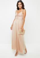 VELVET - Lace cami maxi dress - neutral