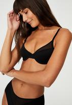 Cotton On - We just mesh contour bra - black