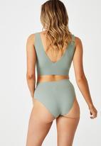 Cotton On - Seamfree mumdie bikini brief - desert sage