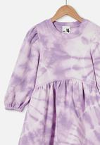 Cotton On - Flora long sleeve dress - purple