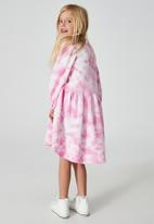Cotton On - Flora long sleeve dress - pink