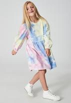 Cotton On - Flora long sleeve dress - multi
