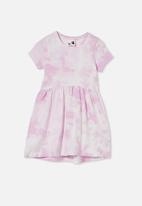 Cotton On - Freya short sleeve dress - pale violet