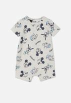 Cotton On - The short sleeve romper license - grey