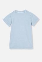 Cotton On - Jamie short sleeve tee - license - dusty blue
