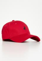 POLO - Mens parker classic peak - red