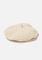 Rubi - Camille crochet beret - ecru
